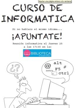 cartel curso informatica